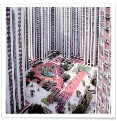 Hong Kong Buildings Courtyard Poster