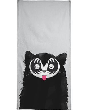 Cat Rock On Beach Towel