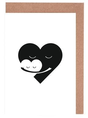 Heart Hug Set de cartes de vœux