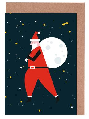Santa Moon wenskaartenset