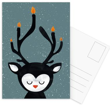 Deer Candle ansichtkaartenset