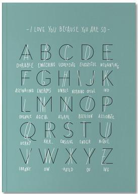 Alphabet of Love Carnet de note