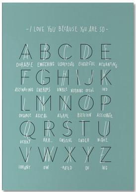 Alphabet of Love Bloc-notes