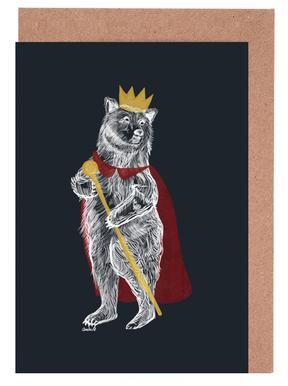 King Bear Greeting Card Set