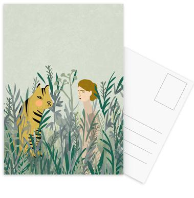 Look for Your Tiger Postcard Set