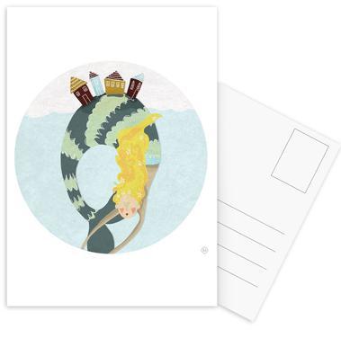 Mermaid Postcard Set
