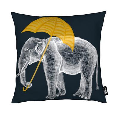Elephant with Umbrella Kussen