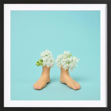 Feet Vase Lilacs ingelijste print