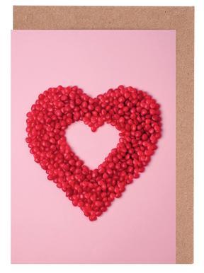 Red Hots Heart Set de cartes de vœux