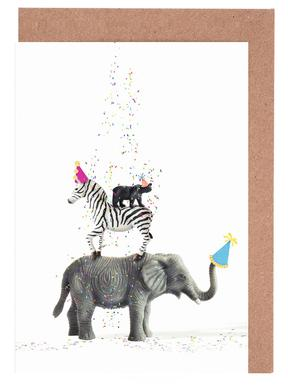 Buy greeting cards online juniqe uk party animals juj winn greeting card set m4hsunfo
