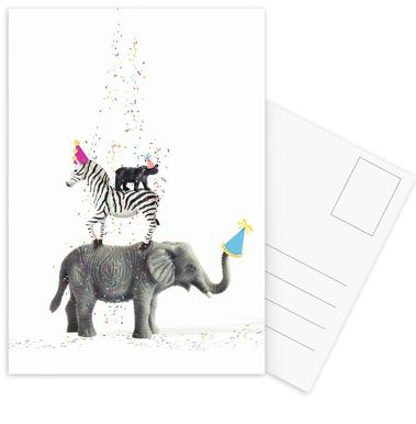 Party Animals Postcard Set