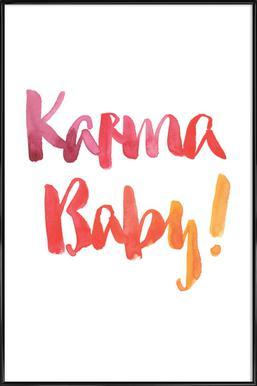 Karma Baby -Bild mit Kunststoffrahmen