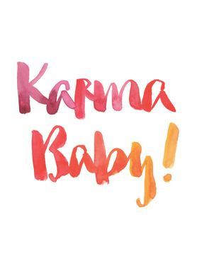 Karma Baby -Leinwandbild