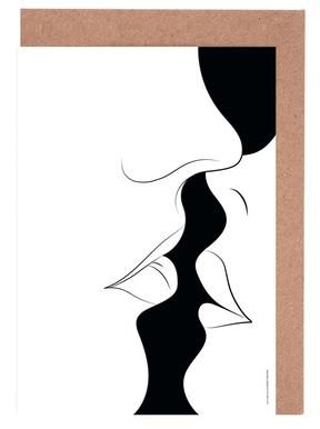 Just a White Kiss Greeting Card Set