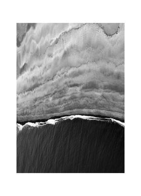Black Ocean Leinwandbild