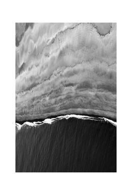 Black Ocean Aluminium Print