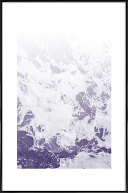 Purple Ocean Poster im Kunststoffrahmen