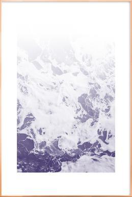 Purple Ocean Poster in Aluminium Frame