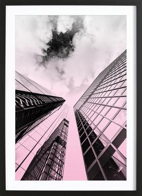 Skyscraper Poster im Holzrahmen