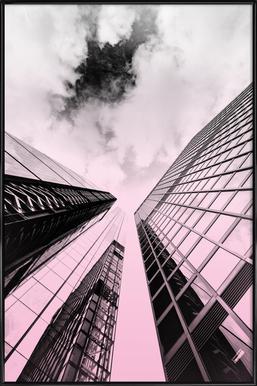 Skyscraper Poster im Kunststoffrahmen