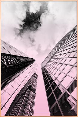 Skyscraper Poster im Alurahmen