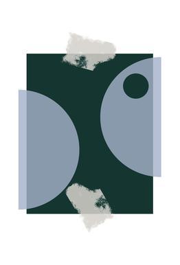 Blue & Green -Alubild