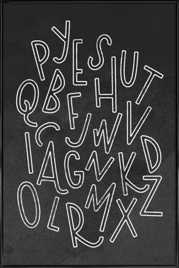 All the Letters ingelijste poster