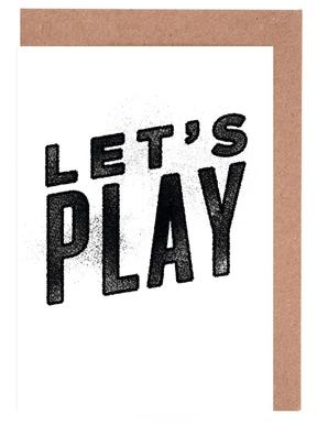 Let's Play wenskaartenset