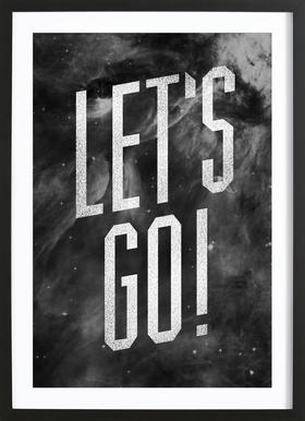 Let's Go ingelijste print