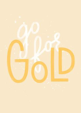 Go For Gold Canvas Print