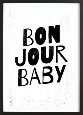 Bonjour Baby ingelijste print