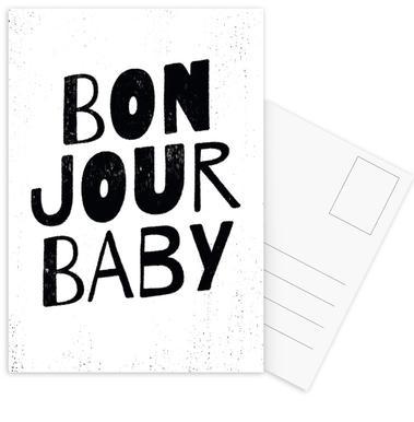Bonjour Baby ansichtkaartenset