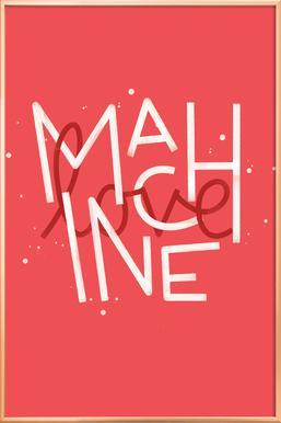 Love Machine affiche sous cadre en aluminium