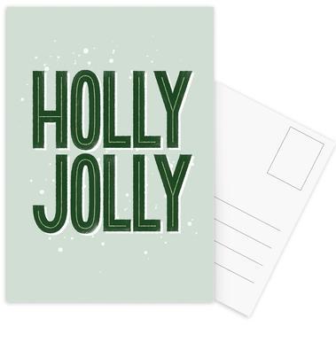 Holly Jolly Postcard Set