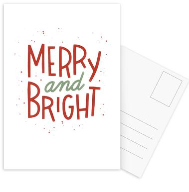 Merry And Bright Postcard Set
