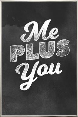Me Plus You poster in aluminium lijst