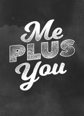 Me Plus You canvas doek