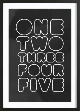One Through Five ingelijste print