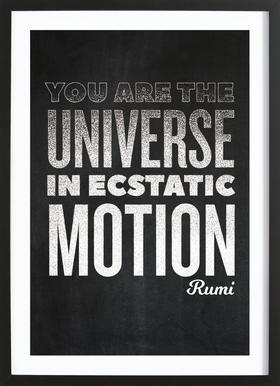 You Are the Universe ingelijste print