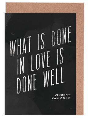 Done in Love wenskaartenset