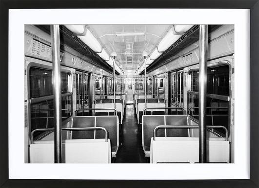 Metro black & white Framed Print