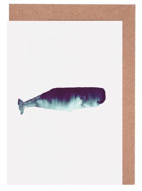 Whale I Grußkartenset
