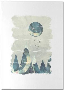 Abstract Mountain Carnet de note