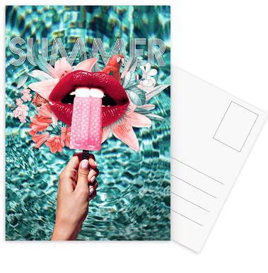 Summer Vibes Set de cartes postales