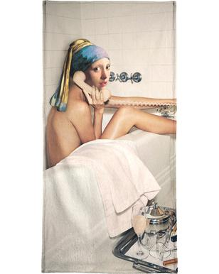 Girl with Pearl Earring Bath time -Strandtuch