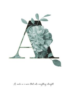 Flower Alphabet - A Acrylic Print