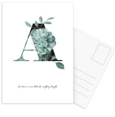 Flower Alphabet - A Postcard Set