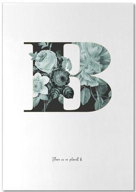 Flower Alphabet - B Bloc-notes