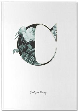 Flower Alphabet - C Notizbuch