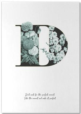 Flower Alphabet - D Bloc-notes